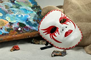 "Carnival Mask Made From Papier Mache ""Femme Lady"""