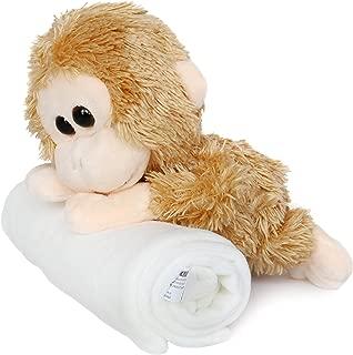 Ice King Bear Newborn Little Golden Monkey Stuffed Animal Plush Toy (with Bath Towel)