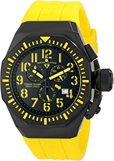 Swiss Legend Men's 10540-BB-01-YA Trimix Diver Chronograph Black Dial Yellow Silicone Watch