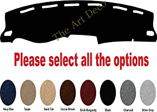 The ArtDeco 2014~2017 Mitsubishi Mirage & Mirage G4 Dash Cover Dash Pad - Premium Custom Carpet (Black)