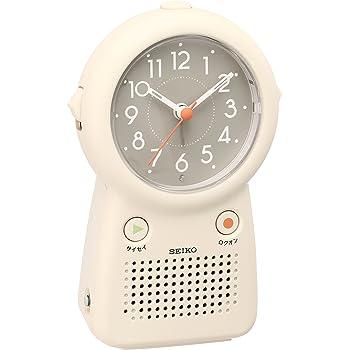 セイコー クロック 目覚まし時計 アナログ 録音再生機能つき アイボリー EF506C SEIKO