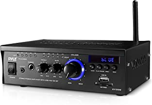 Bluetooth Mini Stereo Power Amplifier 2x120W Dual Channel Sound Audio Receiver Entertainment w/ Remote, for Amplified Spea...