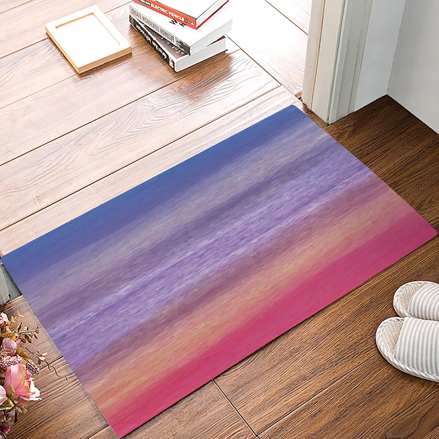 Brawvy Non Slip Resilient Indoor Doormat Absorbent Entry Way Mat for Bathroom Kitchen Toilet Floor, Elegant Modern Watercolor Background Comfortable Home Deco,20 x 32