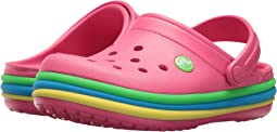 Crocs Kids Crocband Rainbow Band Clog (Toddler/Little Kid)