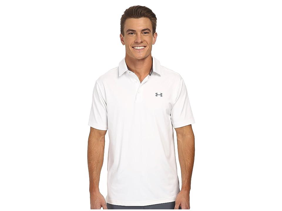 Under Armour Golf UA Playoff Polo (White/Graphite/Graphite) Men