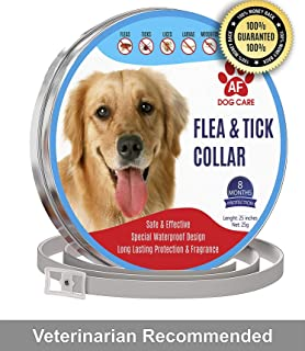 AF Dog Flea and Tick Control Collar - 8 Months Flea and Tick Control for Dogs - Natural, Herbal, Non-Toxic Dog Flea Treatment - Waterproof Protection and Adjustable Best Flea Collar for Dogs