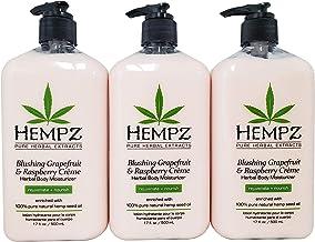 product image for Hempz Blushing Grapefruit & Raspberry Creme Herbal Body Moisturizer Lotion 17oz (Pack of 3)
