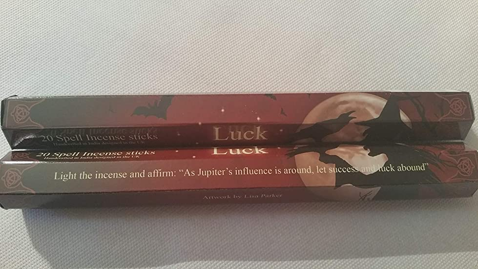 好色な染色アクセス6 Packs Of Luck Spell Incense Sticks By Lisa Parker