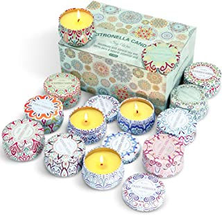 LA BELLEFÉE Citronella candle Summer Scented Candles Lemongrass Scented Candles Citronella Scented Candle Gift Set for Out...
