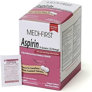 Medi-First 80548 Aspirin, 125 packets of 2