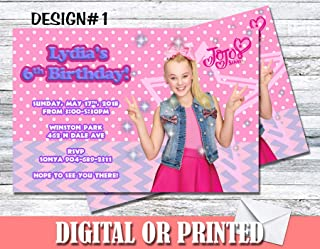 JOJO Siwa Personalized Birthday Invitations More Designs Inside!