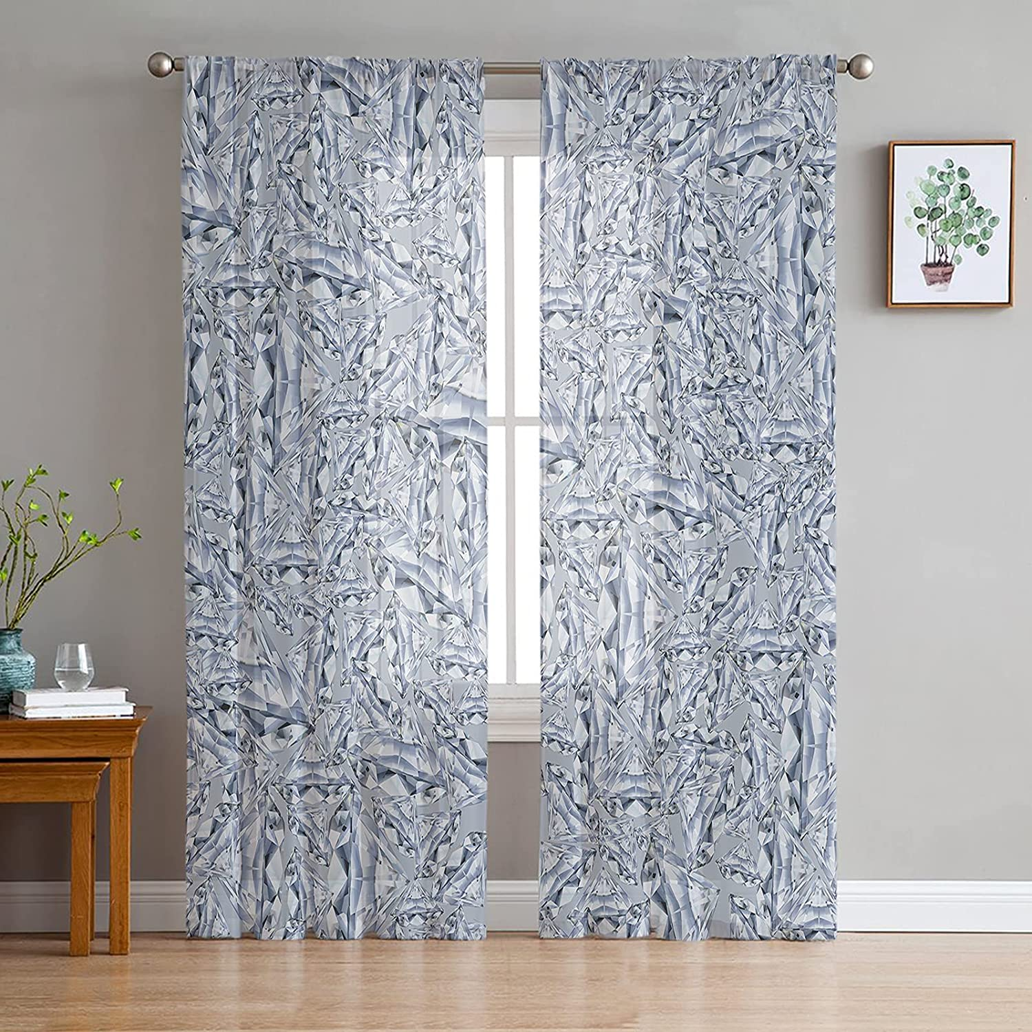 FAMILYDECOR Challenge the lowest price Sheer Curtains 96 inches Grommet W Drapes Voile lowest price Long