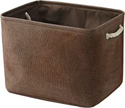 TheWarmHome Brown Basket Storage Basket for Organizing Dog Toy Basket Storage Bin Shoe Basket Storage Basket for Shelf, Gi...