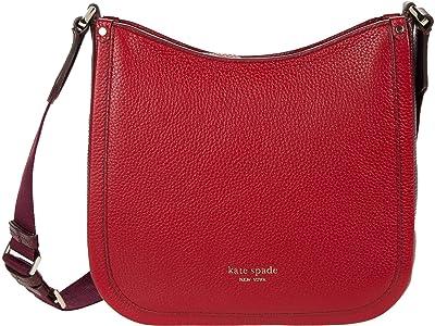 Kate Spade New York Roulette Medium Messenger (Red Currant Multi) Handbags