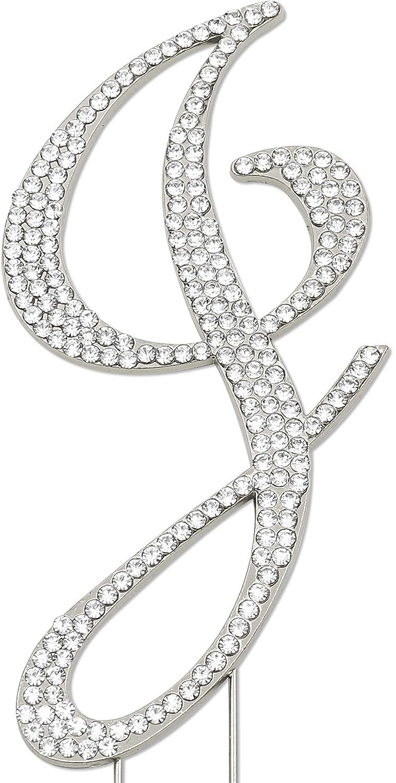 Sparkly Rhinestones Letter J Cake Birthday Topper Free Shipping New Anniv Wedding Max 56% OFF
