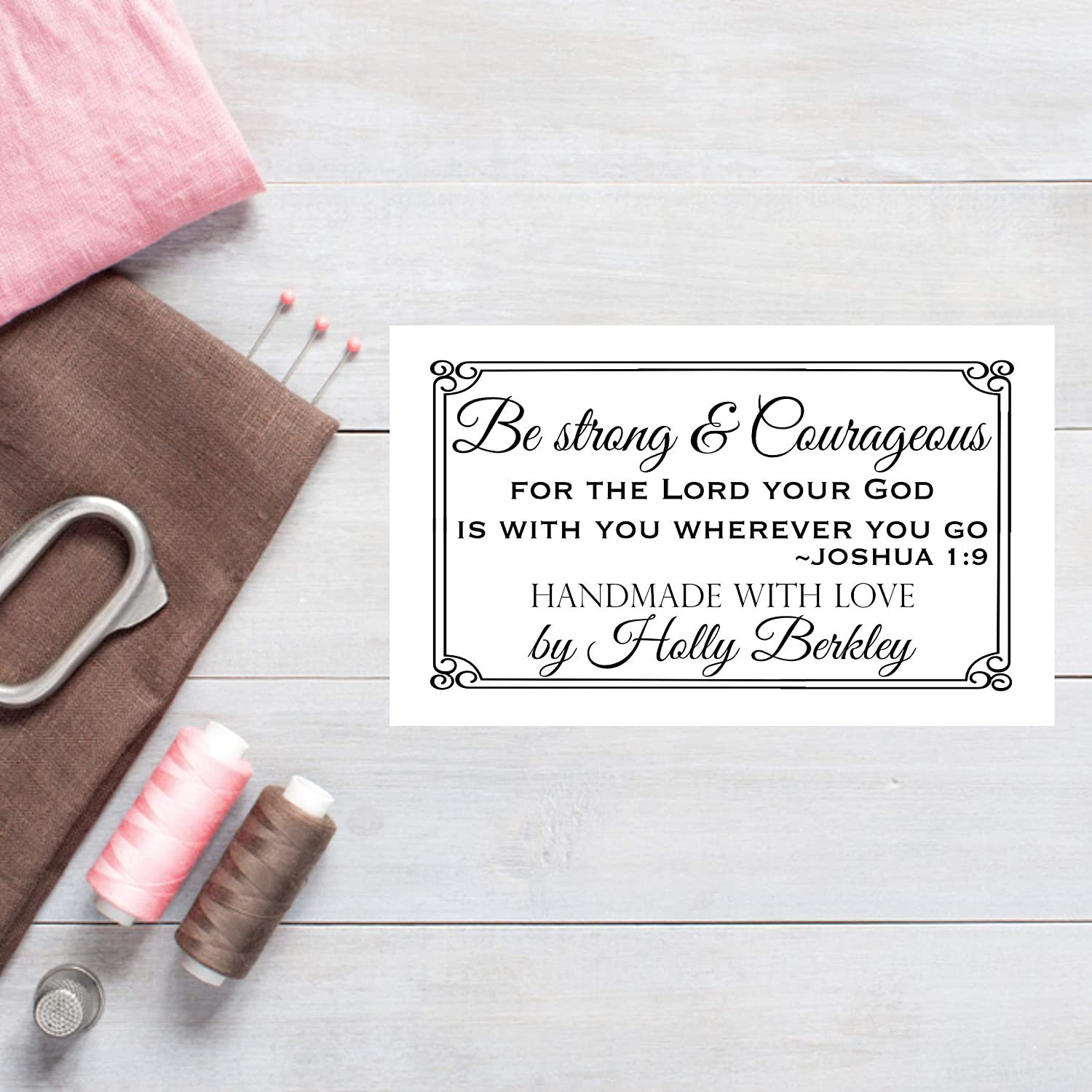 Tampa Mall Be Strong and Courageous Quilt Discount mail order Labels