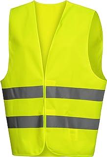 Gelb//Orange Reflektierende Weste-Nachtlauf Sicherheitskleidung Hohe Sichtbarkeit Reflektierende Sicherheitsweste Verstellbare Taille