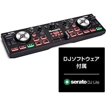 Numark コンパクト DJコントローラー Serato DJ用ミキサー付きオーディオインターフェース内蔵 USB 2デッキ クロスフェーダー・タッチセンシティブ・ジョグホイール搭載 コンパクトサイズで自宅用に最適 DJ2GO2 Touch