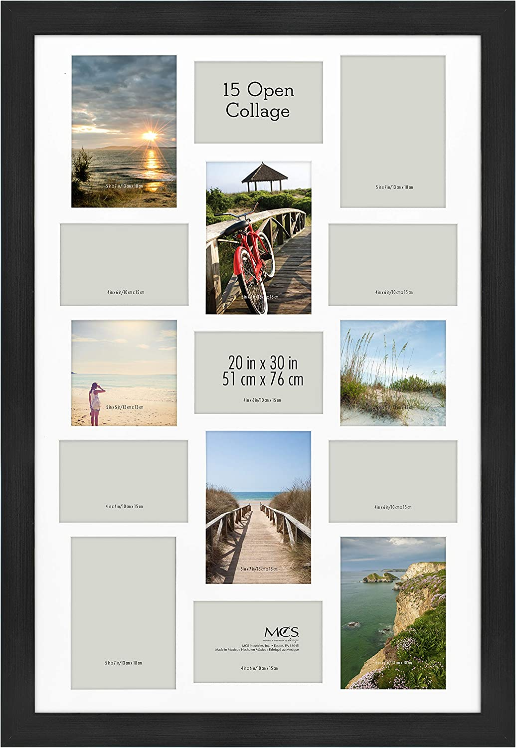 MCS specialty shop Museum Collage Poster Frame 30 Onyx x 20 Ranking TOP17