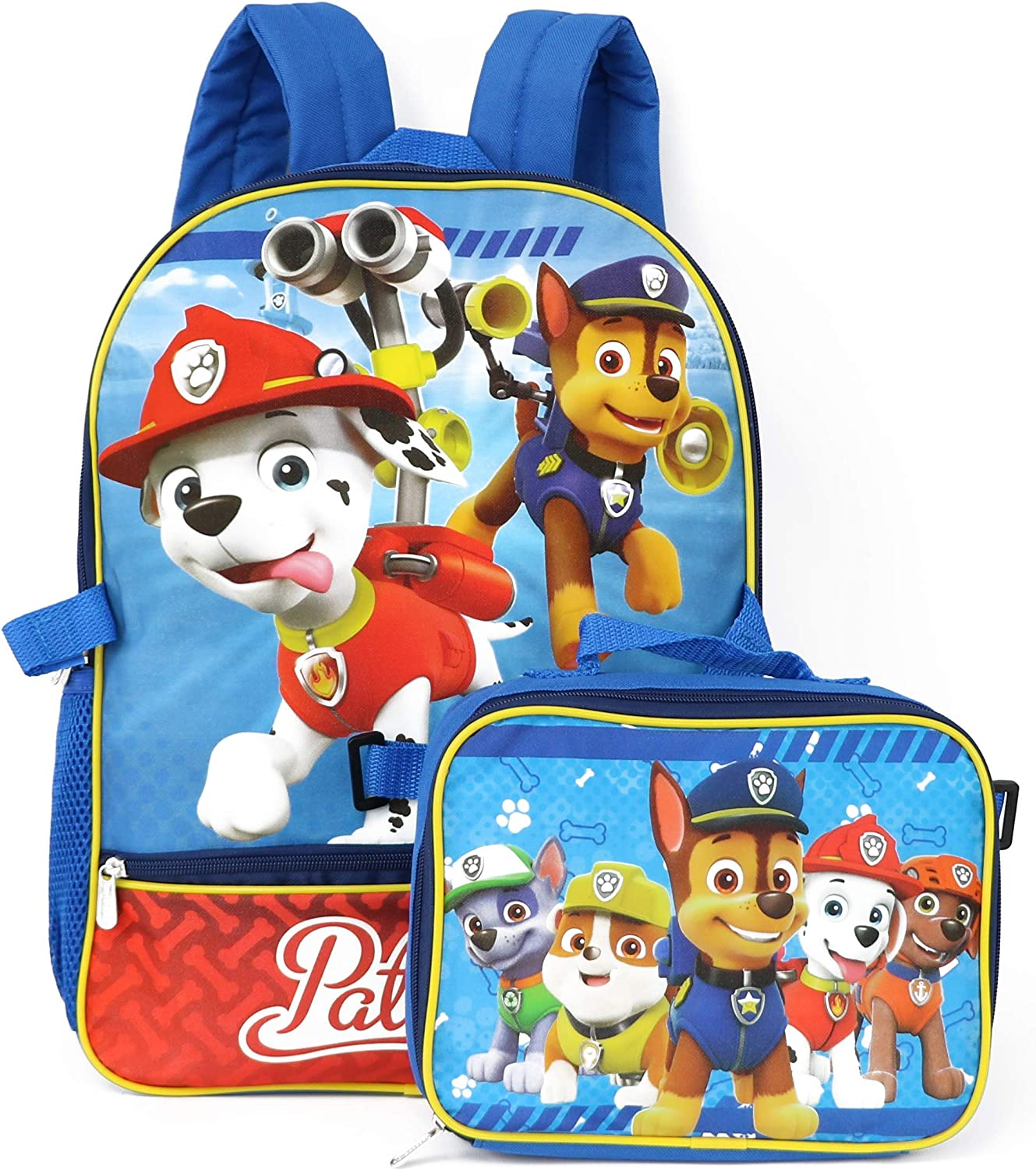 Nickelodeon Boys' Paw Patrol Max 43% OFF Backpack with ONE Blue Lunch Red sold out