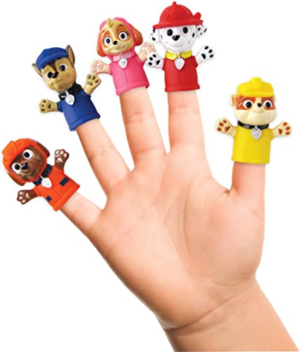 Nickelodeon Paw Patrol Finger Puppets - Party Favors, Educational, Bath Toys