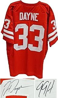Wisconsin Badgers Ron Dayne Signed Red Custom Jersey w/99H - Schwartz COA
