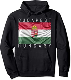 Budapest Hoodie Flag of Hungary with Coat of Arms Souvenir
