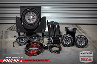 SSV Works 18-20 CAN-AM MAVX3MT Kicker Complete 5 Speaker Plug-and-Play System