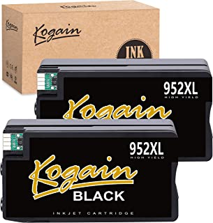 Kogain Remanufactured Ink Cartridge Replacement for HP 952 952XL Ink Cartridges (2 Black), Work with HP Officejet PRO 8710 8720 8740 7740 8210 8216 8730 7720 8702 8715 8716 8725 8727 Printer