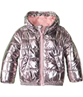 Kenzo Kids - Metallic Pink Puff Nylon Jacket (Little Kids)