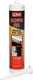 RAYT-NOVOSIL INT.-EXT. PINTABLE - 1629-02 Masilla blanca en cartucho para sellados, interior-exterior, pintable - 300 ml