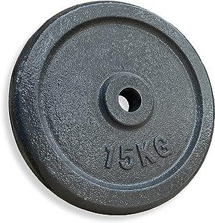 KVK FITNESS   30 kg hantelskivsset – 2 x 15 kg av gjutjärn – 30/31 mm vikter för korta och skivstångsstänger – DE återförs...