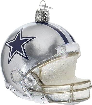 743464bfc21eb0 Old World Christmas Glass Blow Christmas Ornament Dallas Cowboys Helmet