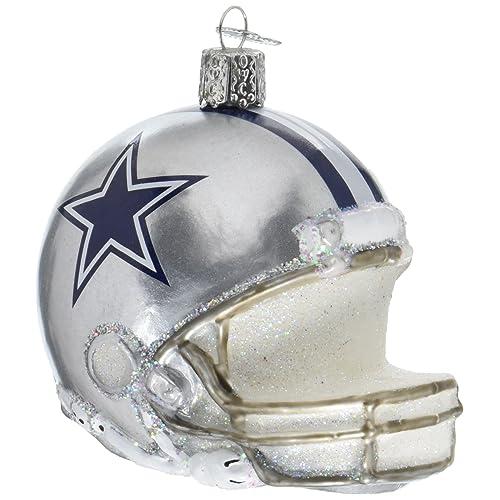 Old World Christmas Glass Blow Christmas Ornament Dallas Cowboys Helmet b2a8b749c