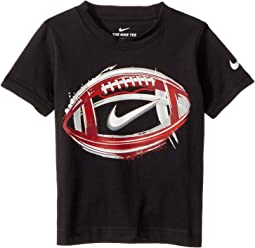 Nike Kids Brush Football Cotton Short Sleeve Tee (Toddler)