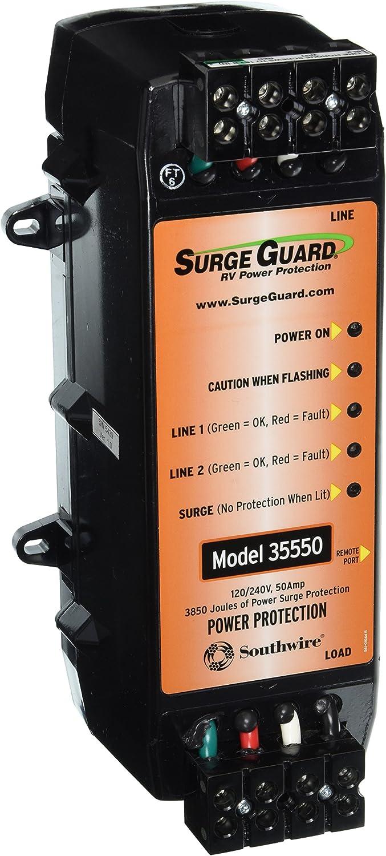 50 Amp Southwire Surge Guard 35550 RV Surge Protector Protector
