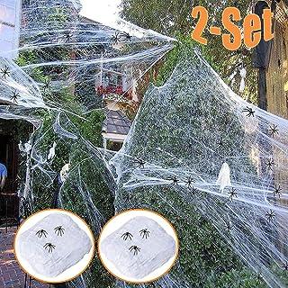 Lobyoh Halloween-decoratie, spin, 2 sets met 70 spinnen, decoratie 240 g, Halloween-scène voor de voordeur van de tuin van...