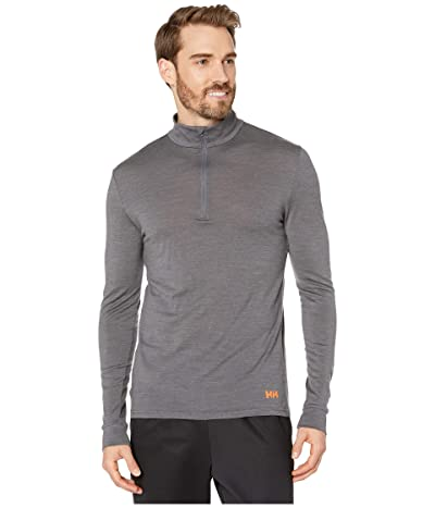 Helly Hansen Merino Mid 1/2 Zip (Charcoal Melange) Men
