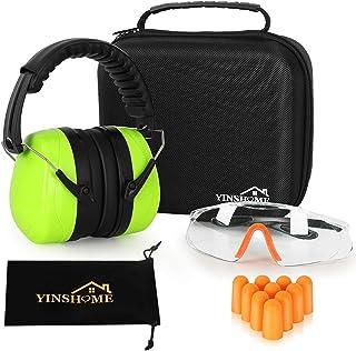 YINSHOME Shooting Ear Protection Earmuffs, Gun Safety Glasses, Earplugs, Protective Case