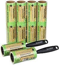 Schramm® 10 stuks pluisroller 10 rollen een 60 vellen pluisroller zwarte kunststof dispenser incl. pluisvuilrollen borstel...
