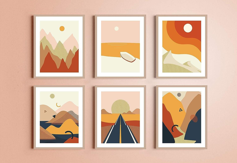 Buy Haus and Hues Abstract Minimalist Landscape Wall Art Prints ...
