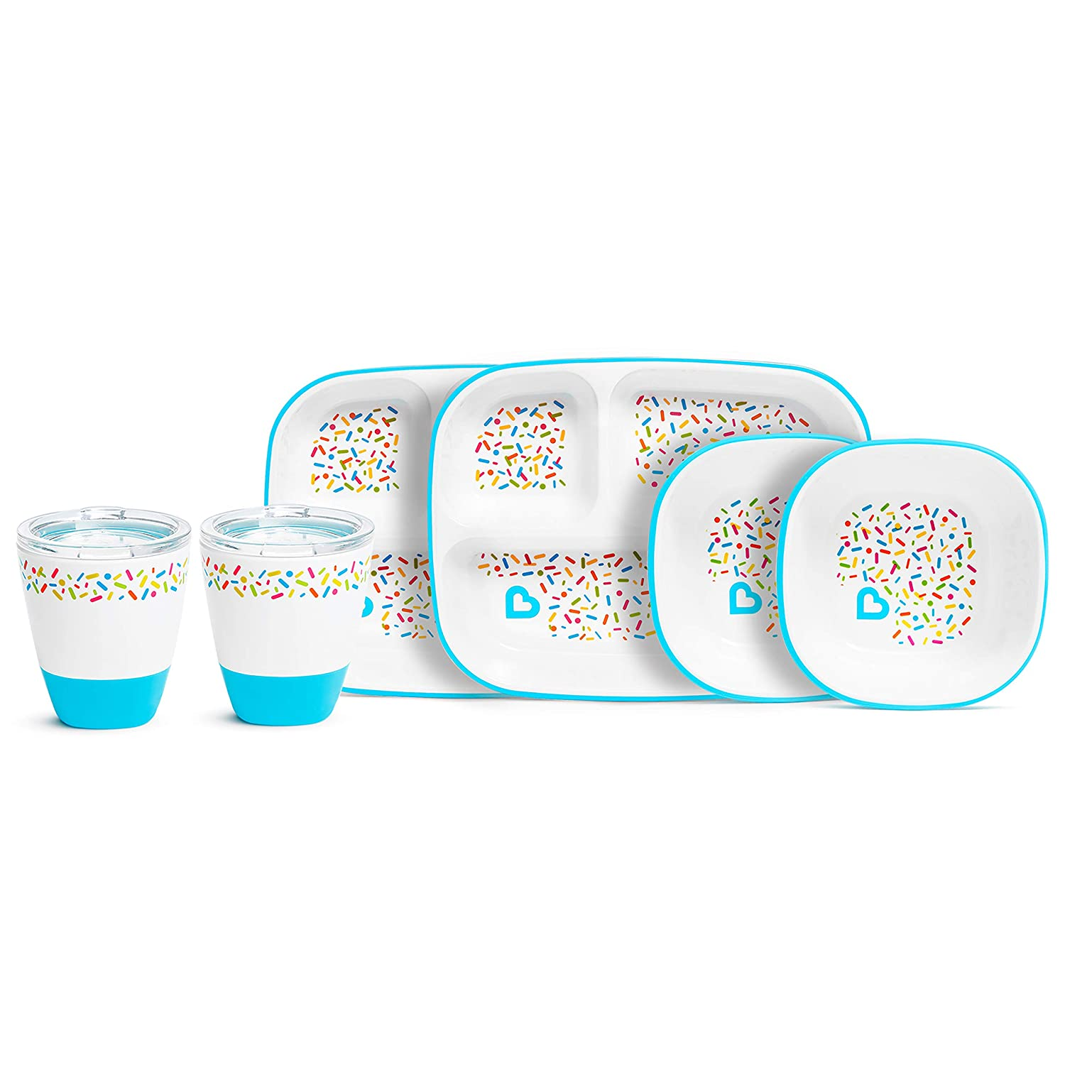 Munchkin Splash 6 Popular popular Piece Toddler Bowl Dining Cup Plate Super special price Divided