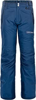 Lucky Bums Youth Snow Ski Pants with Reinforced Knees and Seat, Navy, X-Small