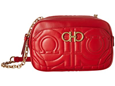 Salvatore Ferragamo Quilted Crossbody (Lipstick) Handbags