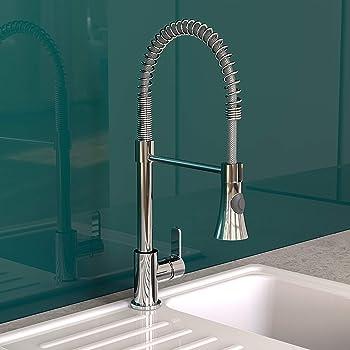 360° Küchenarmatur Spültisch Einhebelmischer Spiralfeder Bad Küche Wasserhahn