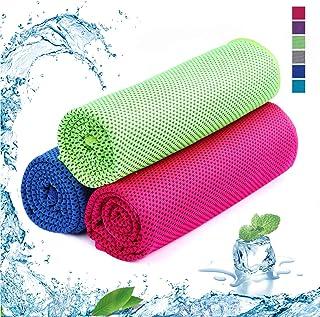 SKL - Juego de 3 Toallas Deportivas de Microfibra de Secado rápido para Golf, natación, Yoga, fútbol, Running y Entrenamiento (36 x 12 Pulgadas), Color Verde