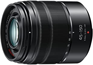 Panasonic LUMIX G VARIO 45-150mm F4.0-5.6 ASPH Mirrorless Camera Lens with Optical Stabilizer, Micro Four Thirds Mount, H-FS45150AK (USA Black)