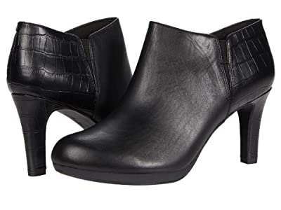 Clarks Adriel Lily (Black Leather Synthetic Combination) Women