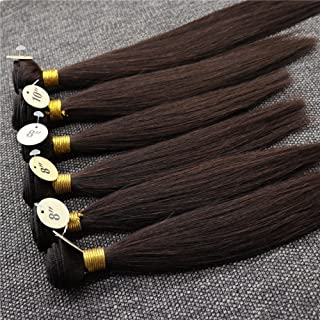 """Kun Na Silky Straight Weft Hair For Wig Making 8""""x4pcs,10""""x1pc,12""""x1pc,Total 200G,6 Bundles Real Weave Human Hair Extensio..."""