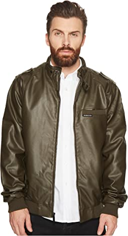 Members Only - Faux Leather Iconic Racer Jacket